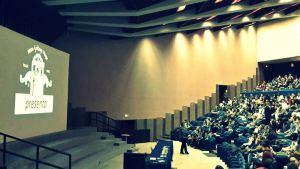 un momento della nostra presentazione all'Università Politecnica delle Marche